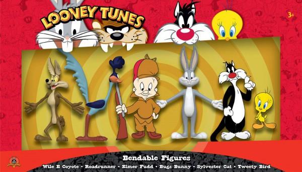 Looney Tunes Biegefiguren 6er-Pack 6 - 15 cm
