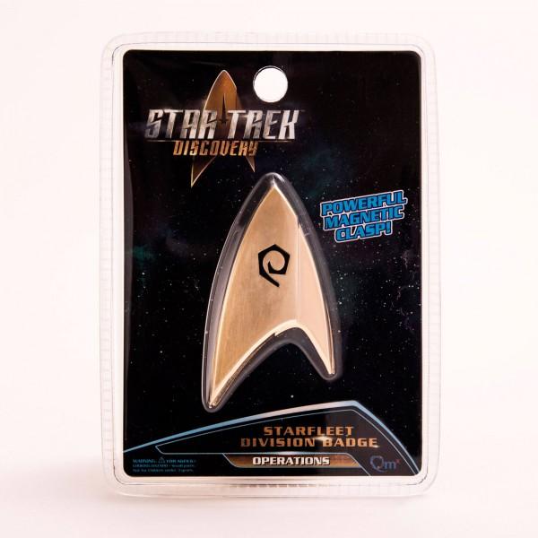 Star Trek Discovery Replik 1/1 Sternenflottenabzeichen Operations magnetisch