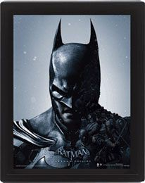 Batman Arkham Origins 3D-Effekt Poster Set im Rahmen Batman vs. Joker 26 x 20 cm (3)