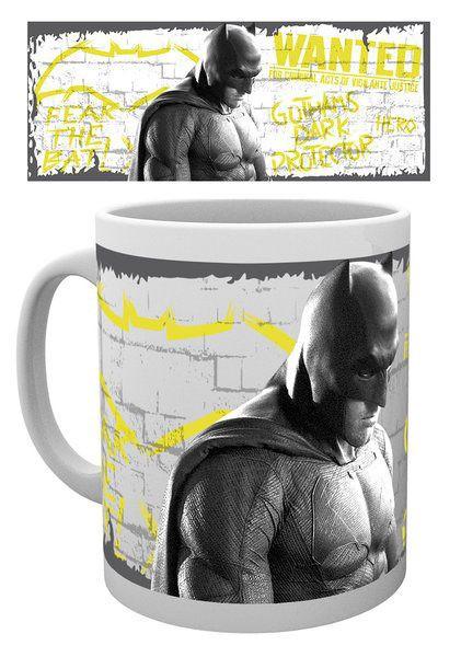 Batman v Superman Dawn of Justice Tasse Wanted