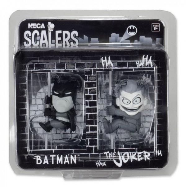 DC Comics Scalers Minifiguren Doppelpack Black & White Batman & Joker SDCC 2014 Exclusive 5 cm