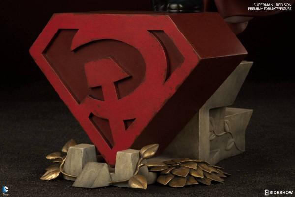 DC Comics Premium Format Figur 1/4 Superman Red Son 64 cm --- BESCHÄDIGTE VERPACKUNG