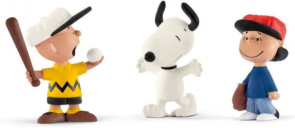 Peanuts Minifiguren Dreierpack Baseball 6 cm