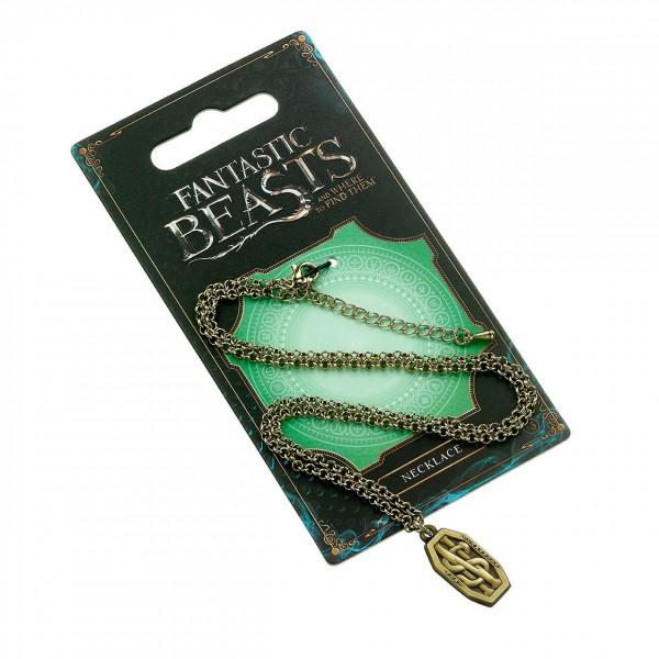Phantastische Tierwesen Halskette & Anhänger Newt Scamander Logo