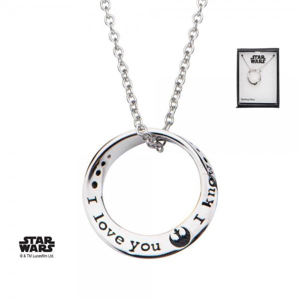 Star Wars Halskette I love you. I know 46 cm (Sterling Silber)