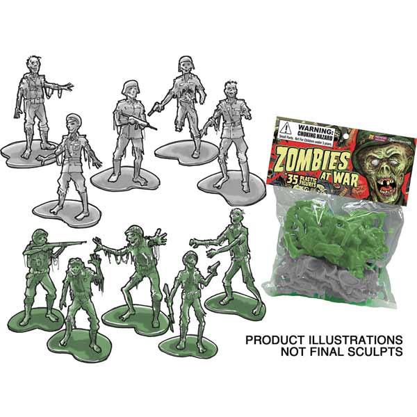 Zombies At War Spielzeugsoldaten, 35er Pack