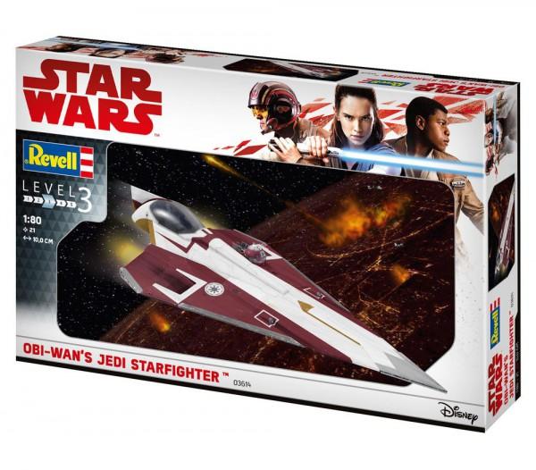 Star Wars Level 3 Modellbausatz 1/80 Jedi Starfighter 10 cm