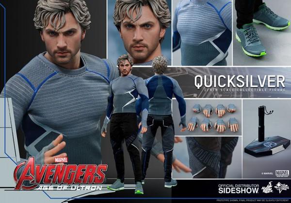Avengers Age of Ultron Movie Masterpiece Actionfigur 1/6 Quicksilver 30 cm --- BESCHÄDIGTE VERPACKUN