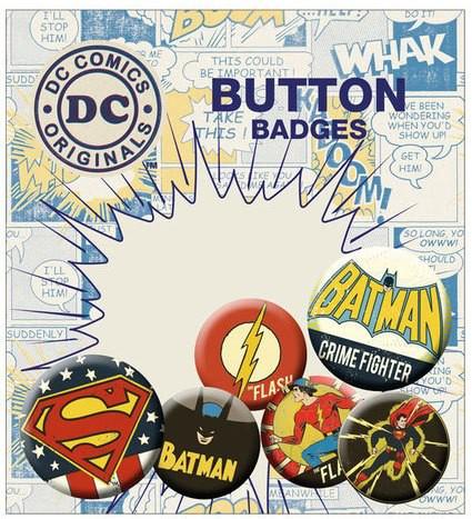 DC Comics Ansteck-Buttons 6er-Pack Retro