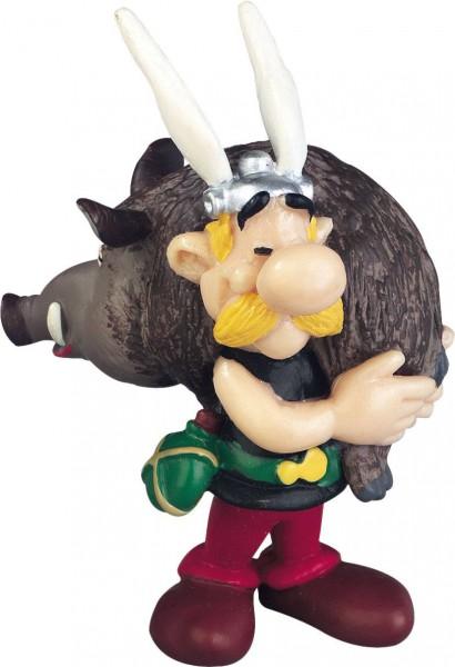 Asterix Figur Asterix mit Wildschwein 6 cm
