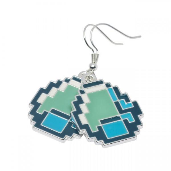 Minecraft Diamond Ohrringe