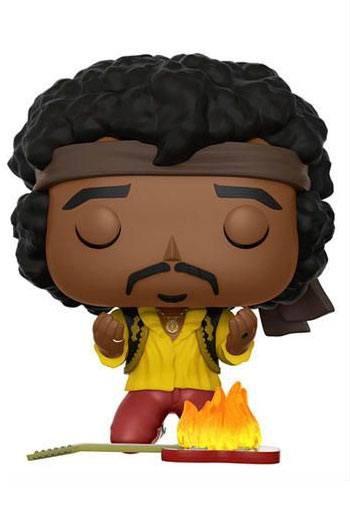 Jimi Hendrix POP! Rocks Vinyl Figur Jimi (Monterey) 9 cm