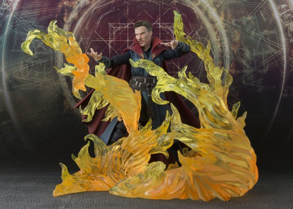 Doctor Strange S.H. Figuarts Actionfigur Doctor Strange & Burning Flame Set 15 cm