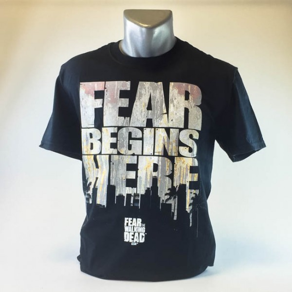 Fear the Walking Dead: Fear begins here Herren T-Shirt, schwarz