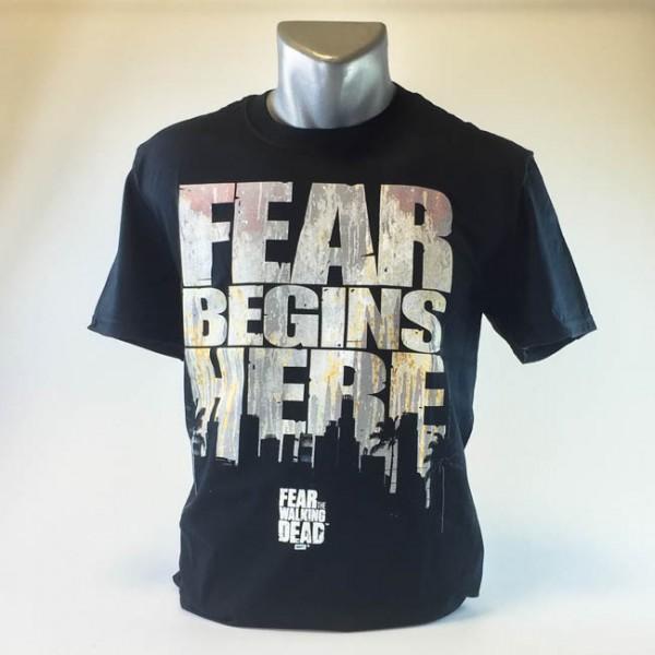 Fear the Walking Dead: Fear begins here Herren T-Shirt, schwarz