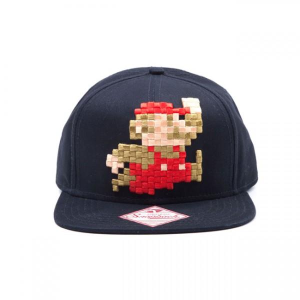 Nintendo Pixel Super Mario 3D-Stick Hip Hop Snapback Cap